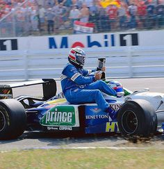 Germany 1996 - Jean Alesi and Gerhard Berger shared the Benetton B196-Renault RS8 3.0 V10