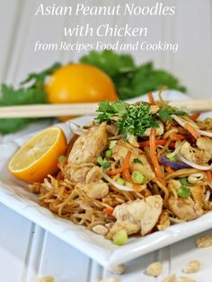 Asian Peanut Noodles with Chicken in a delicious peanut sauce with chicken and stir fried vegetables.#WeekdaySupper - Recipes, Food and Cooking
