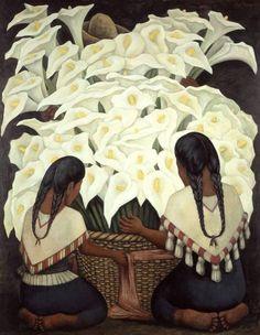 Diego Rivera (1886 - 1957) Vendedora de alcatraces - 1943