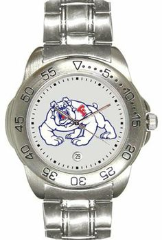 Fresno State Bulldogs Mens Sports Steel Watch by SunTime. $49.95