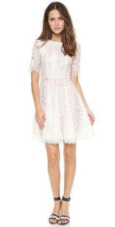 Shoshanna Lace Carmen Dress   SHOPBOP