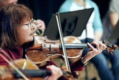 Missoula woman makes music from great-grandfather's composition. Sally Daer rehearses part of an ensemble composition written by her great-grandfather, Johann Schneider. Daer is playing his violin, made by Viennese luthier Franz Geissenhof in 1805.