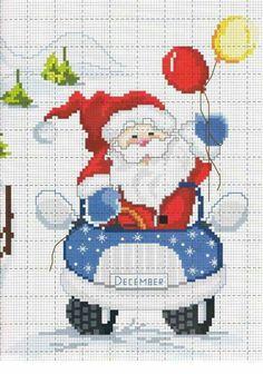 Santa in car