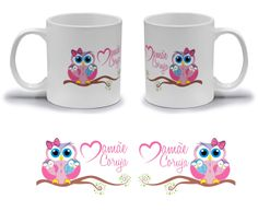 Modelo 11 Encomendas: knek@knek.com.br Knek - Canecas Personalizadas Love Birthday Cards, Bee Gifts, Bee Cards, Plastic Tablecloth, Bee Happy, Cup Design, Crewel Embroidery, Paper Lanterns, Crochet For Kids