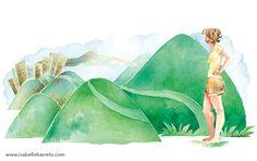 MOGLI. Ilustração para a crônica da Fernanda Torres na revista Veja Rio.