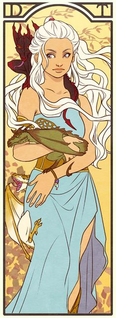 Daenerys Targaryen from Game Of Thrones by Lelia Art And Illustration, Illustrations, The Mother Of Dragons, Valar Dohaeris, Inspiration Art, Game Of Thrones Art, My Sun And Stars, Bd Comics, Fandom