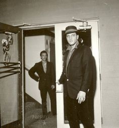 "Saturday, May 28, 1960 Elvis and  Gene Smith  Sahara Hotel in Las Vegas, NV . On a break from filming Paramount's ""G.I. Blues"" in Hollywood, CA, Elvis, Gene Smith, Joe Esposito, Lamar Fike and Colnel Parker's right hand Tom Diskin spent the weekend at the Sahara Hotel."