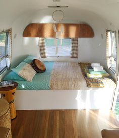 "Airstream Dreams on Instagram: ""Cosy spot for a nap  @happy_glamper #PeggySueTheAirstream"""