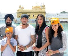 images of jazzy b and family at the Golden temple.