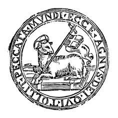 Agnus Dei 01 - Category:Ecce Agnus Dei - Wikimedia Commons I wish I had a date for this, but it's exactly what I want Christian Symbols, Christian Art, Catholic Art, Religious Art, Knights Templar Symbols, Anima Christi, Linear Art, God Tattoos, Symbols And Meanings