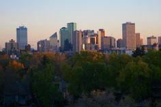 Edmonton Alberta seen from Metterra Hotel on Whyte
