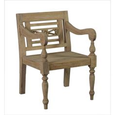Elgin Rustic Brown Distressed Chair