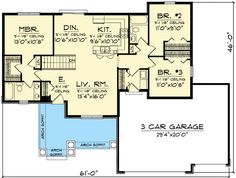 Bargain for Builders and Buyers - 89761AH   1st Floor Master Suite, Butler Walk-in Pantry, CAD Available, Corner Lot, Craftsman, Den-Office-Library-Study, PDF, Ranch, Split Bedrooms   Architectural Designs
