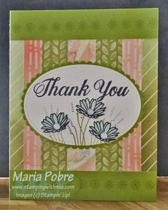 A handmade Daisy Delight Bundle Thank You card using scraps from my paper stash. Daisy Delight Stampin' Up, Stampin Up, Scrapbook Pages, Thank You Cards, Card Making, Paper Crafts, Create, Projects, Blog