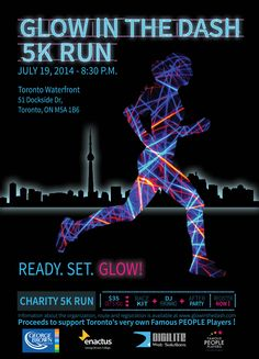 Glow Run, Famous People, Charity, Dj, Typography, Running, Movie Posters, Google, Organization