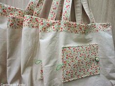 - Calculator Tutorial and Ideas Cotton Shopping Bags, Reusable Shopping Bags, Diy Tote Bag, Tote Backpack, Diy Bags Purses, Purses And Handbags, Sewing To Sell, Embroidery Bags, Bottle Bag