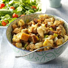Stuffing from the Slow Cooker Recipe -If you're hosting a big Thanksgiving dinner this year, add this simple slow-cooked stuffing to your menu to ease entertaining. The recipe comes in handy when you run out of oven space at large family gatherings. I use it often. —Mrs. Donald Seiler, Macon, Mississippi