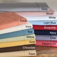 Hemstitch 400 Thread Count Sateen Cotton Sheet Set. Persimmon! Duh.