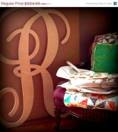 Extra Large Wall Letter UNFINISHED  48 INCH 4 FT by PinwheelFair, $201.60
