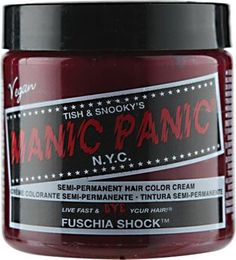 Manic Panic Semi-Permanent Hair Color Cream Fuschia Shock