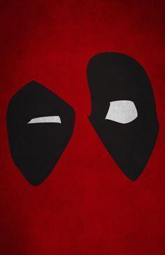 Impresión de minimalismo de Deadpool por WordPlayPrints en Etsy