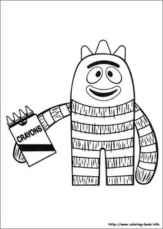 FREE printable yo gabba gabba coloring pages  Happy Birthday Baby