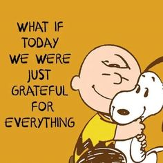 What if today we were just grateful for everything life quotes quotes quote life inspirational quotes charlie brown grateful quotes and sayings life pic life pics Great Inspirational Quotes, New Quotes, Motivational Quotes, Funny Quotes, Life Quotes, Laugh Quotes, Journal Quotes, Peanuts Quotes, Snoopy Quotes
