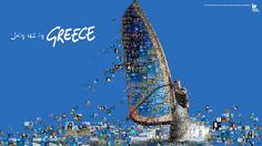 Up Greek Tourism campaign artwork by @Charis Tsevis
