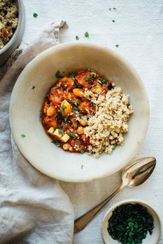 Spicy Chickpea Stew with #Quinoa Pilaf