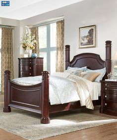 Create a beautiful sanctuary for rest with the prestigious look of the Dumont Poster Bedroom.