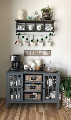 Best Home Coffee Bar Ideas for All Coffee Lovers Cake platte. - tattoos - Best Home Coffee Bar Ideas for All Coffee Lovers Cake platte. Best Home Coffee Bar Ideas for All Coffee Lovers Cake platter & sign // Uplifting farmhouse coffee bar ideas - Coffee Bars In Kitchen, Coffee Bar Home, Home Coffee Stations, New Kitchen, Coffee Bar Ideas, Kitchen Ideas, Coffee Station Kitchen, Coffee Kitchen Decor, Coffee Bar Station