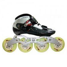 Luigino Challenge Inline Speed Skate Black/Silver (Close Out Sale)