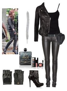 """""""Clary Fray- The Mortal Instruments: City of Bones"""" by taylertot ❤ liked on Polyvore featuring Yves Saint Laurent, D&G, Nina Ricci, Holster, SELECTED, NYX, women's clothing, women, female and woman"""