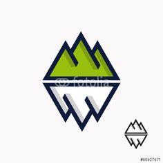 Vector: Logo of the mountain and iceberg