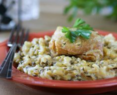 There are many boneless skinless chicken slow cooker recipes out there, but this is the Easiest Slow Cooker Chicken and Rice recipe you'll ever try!