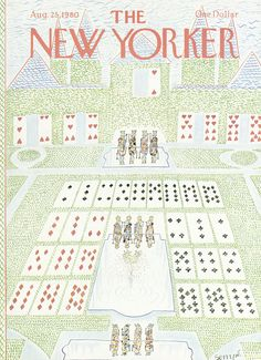 """The New Yorker - Monday, August 25, 1980 - Issue # 2897 - Vol. 56 - N° 27 - Cover by : """"Sempé"""" - Jean-Jacques Sempé"""