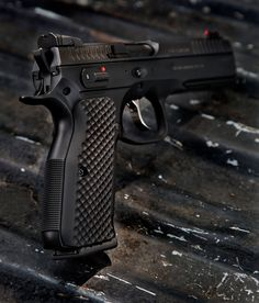 With one of the most ergonomic grips available from VZ Grips the CZ 75 Shadow 2 grips will make your range time far more enjoyable. Pocket Pistol, 9mm Pistol, Shooting Guns, Shooting Range, Weapons Guns, Guns And Ammo, Cz 75 Shadow, Custom Guns, Custom 1911