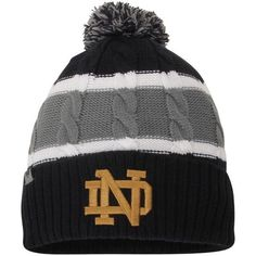 Notre Dame Fighting Irish Top of the World Toddler Windy Knit Hat - Navy d2cc70247c45