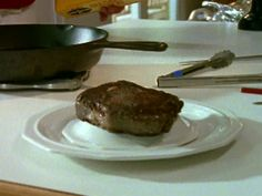 Pan-Seared Rib-Eye recipe from Alton Brown via Food Network - not the best picture but the steak comes out AMAZING everytime!