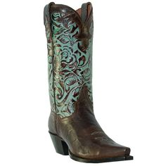 Do I have to have a legit reason/lifestyle to wear these, or can I just wear them because I think they're awesome?      Dan Post Boot Company Women's Rose Snip Toe Cowboy Boot in Brass / Turquoise