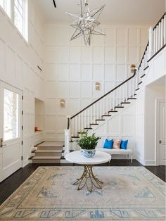 Farrow and Ball Wimborne White Off white paint color. Farrow and Ball Wimborne White Farrow and Ball Wimbourne White Staircase Decor, Interior, Staircase Design, Home Remodeling, Solid Wood Kitchens, House Interior, Home Design Decor, Wimborne White, Home Interior Design