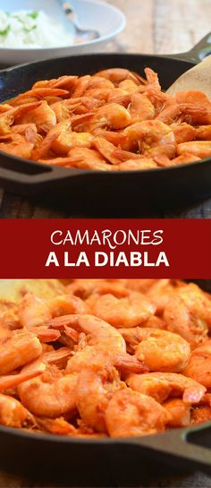 "Camarones a la Diabla cooked a fiery, smoky pepper sauce are sure to rock your taste buds. Also called ""deviled shrimps"", they're loaded with big, bold flavors you'll love. via @lalainespins"