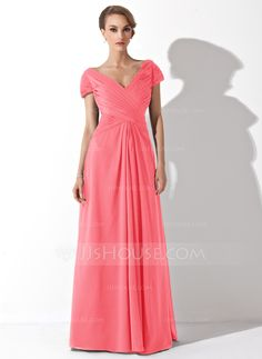 A-Line/Princess Off-the-Shoulder Floor-Length Ruffle Zipper Up at Side Sleeves Short Sleeves No Black Fall General Plus Chiffon Mother of the Bride Dress