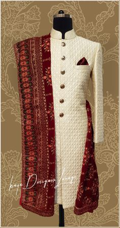 Traditional Best Picture For Groom Outfit traditional For Your Taste You are looking for something, and it is going to tell you exactly what you are look Royal Indian Wedding, Wedding Dresses Men Indian, Wedding Outfits For Groom, Groom Wedding Dress, Indian Weddings, Unique Weddings, Sherwani For Men Wedding, Sherwani Groom, Outfit Designer