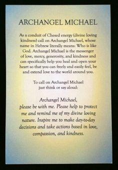 Prayer for Archangel Michael