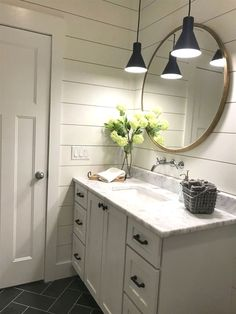 Traditional Home Decor Modern Farmhouse Master Bath Renovation - Obsessed with our vanity spaces! Home Decor Modern Farmhouse Master Bath Renovation - Obsessed with our vanity spaces! Modern Farmhouse Bathroom, Cottage Bathroom Design Ideas, Bathroom Inspiration, Bathroom Decor, Farmhouse Bathroom Decor, Bathrooms Remodel, Bath Renovation, Bathroom Renovations, Cottage Bathroom