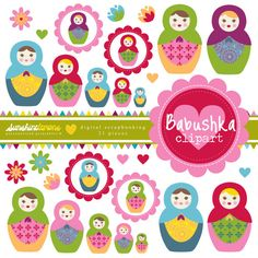 Babushka Dolls Clipart Matryoshka Dolls Clipart by SunshineLemons. Love the Russian Nesting Dolls! X