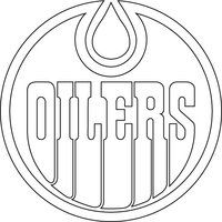 Edmonton Oilers Logo Outline Vector by broken-bison