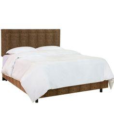 Gwen Notched Bed - Queen - Beige Linen - Skyline Furniture