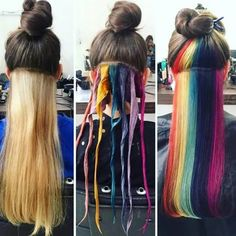 Could be - Tattoo Sleeve - Natural Playground Ideas - DIY Living Room Ideas - Underlights Hair - Art Deco Engagement Ring Hair Color Streaks, Hair Color Purple, Hair Dye Colors, Cool Hair Color, Underdye Hair, Hidden Rainbow Hair, Hidden Hair Color, Hair Color Underneath, Rainbow Underneath Hair